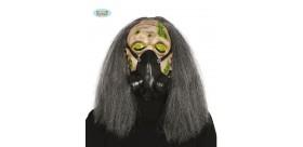 Careta máscara de gas. PVC