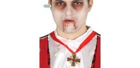 Collar cruz Drácula 6 cm