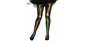 Pantys esqueleto multicolor