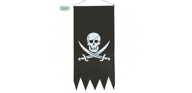Pendón pirata. 43 x 86 cm