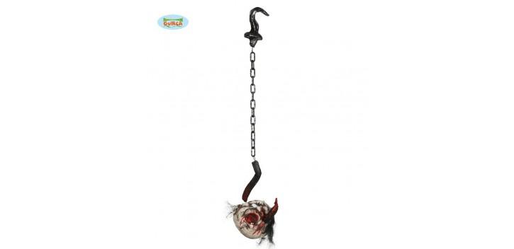 Colgante cadena y gancho con cadena 100 cm