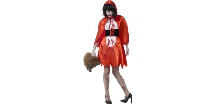 Chica de la caperuza zombi