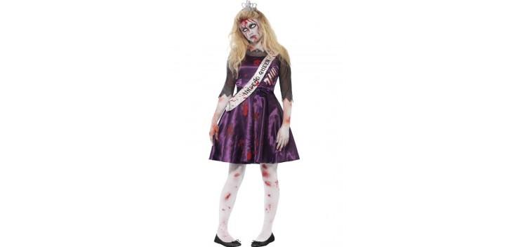 Disfraz de reina de baile Zombie