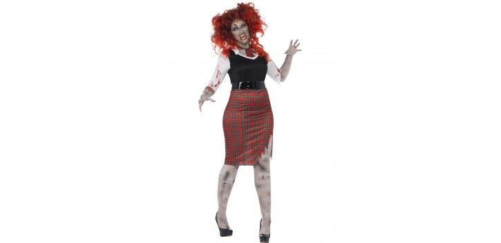 Colegiala zombi con curvas