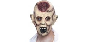 Careta de zombi autopsia, Para la cabeza, látex