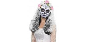 Máscara de novia del día de muertos