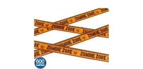 Cinta Precaución: zona zombi, naranja y negro