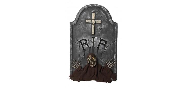 Lápida RIP con luz