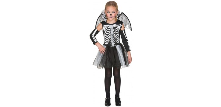 Disfraz de Esqueleto chica.