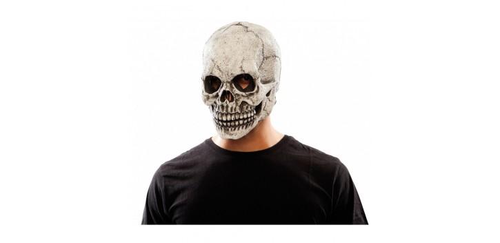 Máscara calavera látex con luz