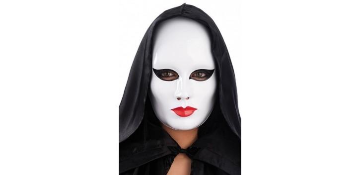 Máscara Blanca de mujer con Maquillaje.