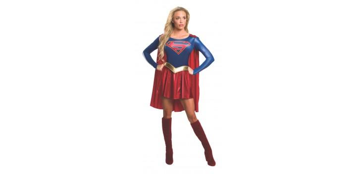 bbc09175be5 Disfraz Adulto Supergirl Oficial DC Comics - OALMACEN