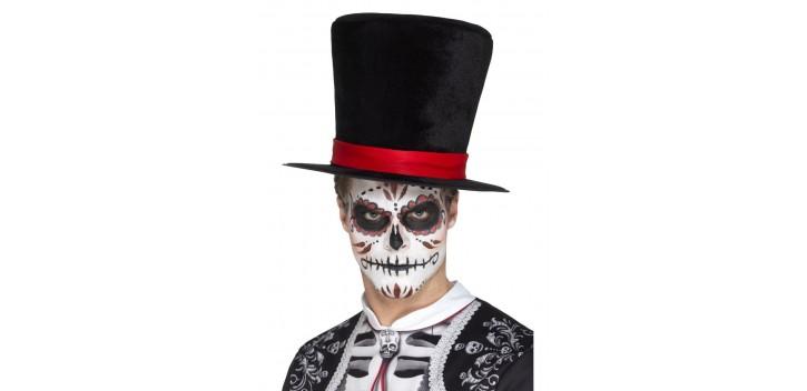 Sombrero negro Día de los Muertos