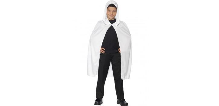 Capa con capucha blanca