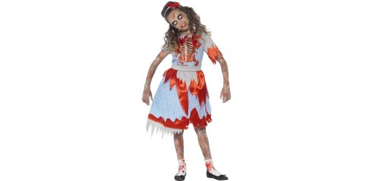 Traje niña Zombie Country.