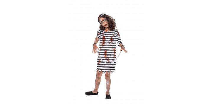 Traje de niña Zombie Convicta