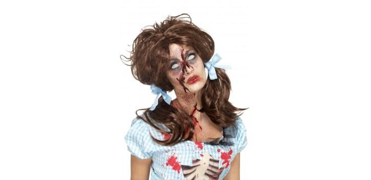 Peluca niña Sangrienta Zombie