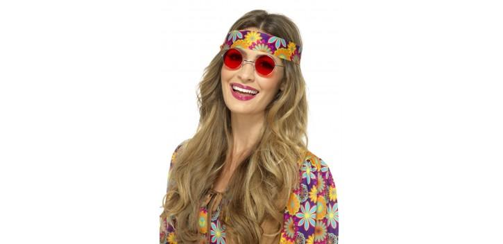 Gafas Hippies Rojas