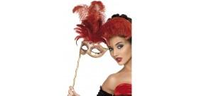 Máscara Barroca Fantasía Roja
