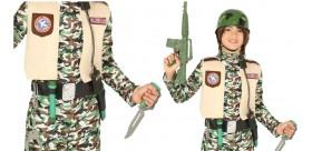 Cinturón militar con casco