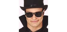 Gafas negras calavera