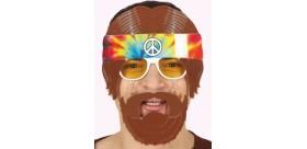 Gafas hippie con pelo