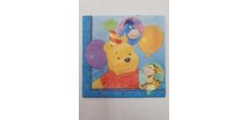 Servilleta Winnie de Pooh Azul