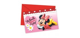 Invitaciones Minnie Mouse rojas
