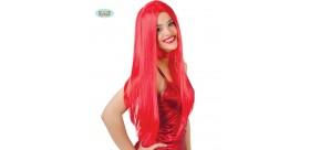 Peluca Lisa Roja